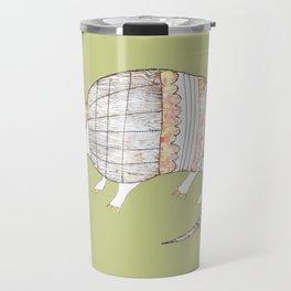 Stich and Fauna:  Armadillo Travel Mug