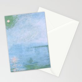 """Claude Monet """"Charing Cross Bridge. Fog on the Thames"""" (1903) Stationery Cards"""