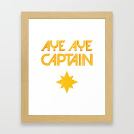 O captain! My captain! - Carol Danvers Framed Art Print