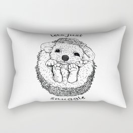 Hedgehog snuggle Rectangular Pillow