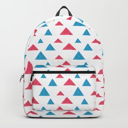 Tribal hand painted blue bright pink watercolor pattern Backpack