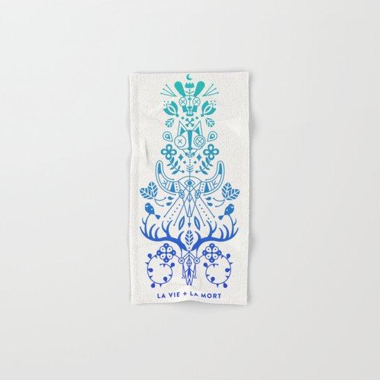 La Vie & La Mort – Blue Ombré Hand & Bath Towel