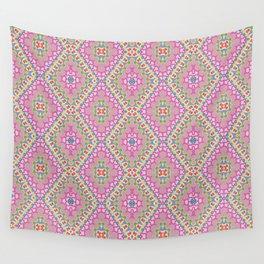 New Delhi #2  Floral Diamonds Wall Tapestry