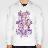 artrave Hoodies featuring ARTRAVE Poster illustration by Jaimie Hutton