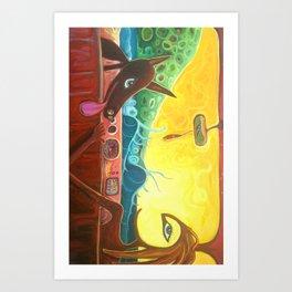 """Surf Dog"" Art Print"