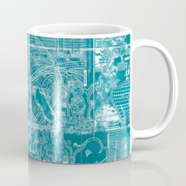 Life Only Makes Sense In Certain Fictions [Now In Duotone - Teal] Coffee Mug