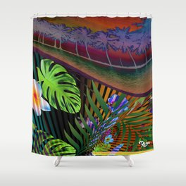 Island Wave by Kenny Rego Shower Curtain