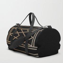 BLACK&GOLD 2 (abstract artdeco geometric) Duffle Bag
