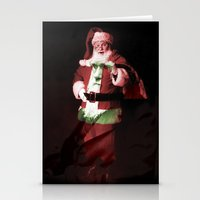 darwin Stationery Cards featuring Darwin/Santa by Ellen Lundgren