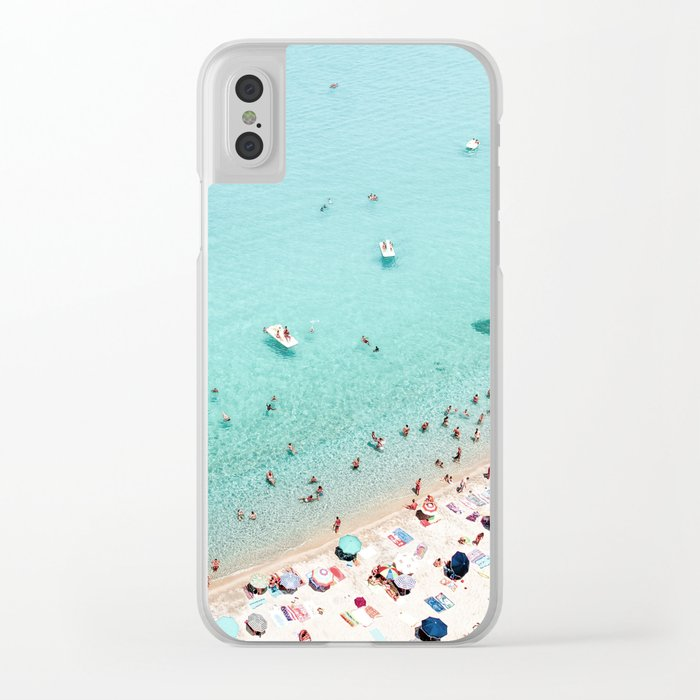 Beach Day Clear iPhone Case