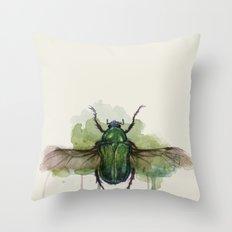 beetle II Throw Pillow