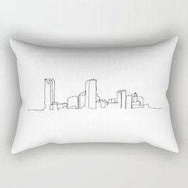 Oklahoma City Skyline Drawing Rectangular Pillow