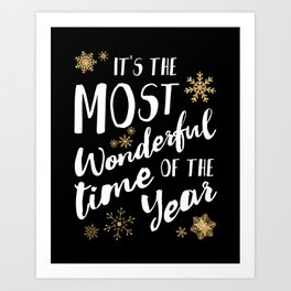 It's the Most Wonderful Time of the Year - Black Art Print