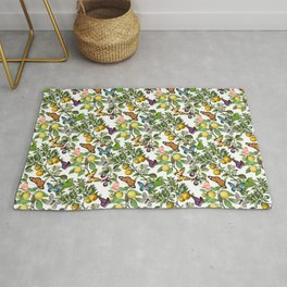 Citruses and Butterflies Rug