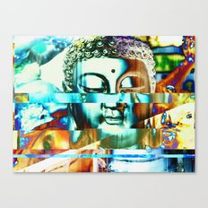 Glitch Buddha #3 Canvas Print