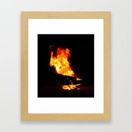 Burning couch  Framed Art Print