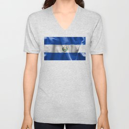 El Salvador Flag Unisex V-Neck