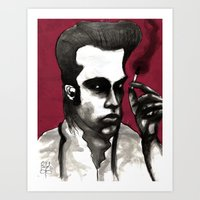 nick cave Art Prints featuring Nick Cave by Rafols