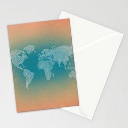 It's a Big ol' World - Pointilist Artwork Stationery Cards