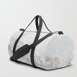 Silver Gray Glitter #3 #shiny #decor #art #society6 Duffle Bag