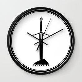 By The Sword - Claymore Wall Clock