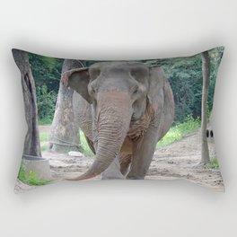 old lady elephant Rectangular Pillow