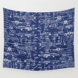 F-18 Blueprints Wall Tapestry