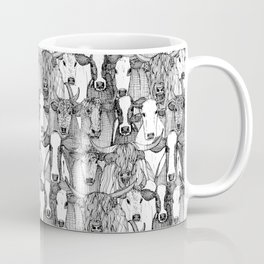 just cattle black white Coffee Mug