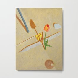 A Tulip Grows Metal Print
