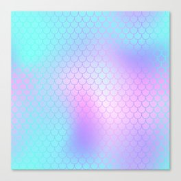 Turquoise Pink Mermaid Tail Abstraction Canvas Print