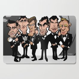 Faces of Bond Cutting Board
