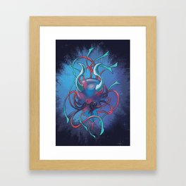 Demon Jelyfish Framed Art Print