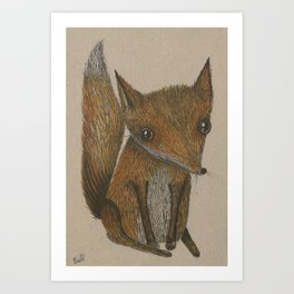 Little Red Fox Art Print