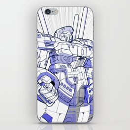 Blue Mecha iPhone Skin