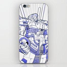 Blue Mecha iPhone Skin