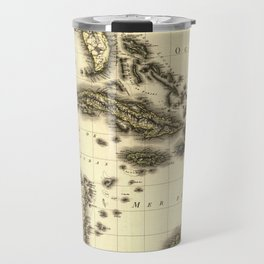Vintage Map of The Caribbean (1806) Travel Mug