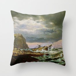 Shipwreck On The Norwegian Coast - Digital Remastered Edition Throw Pillow