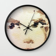Lady Waiting Wall Clock