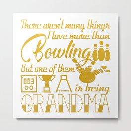 Bowling Grandma Metal Print