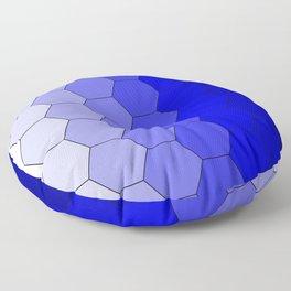 Hexagons (Blue) Floor Pillow