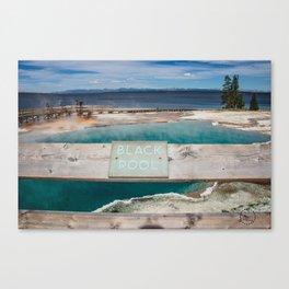 Black Pool, West Thumb Geyser Basin, Yellowstone National Park Canvas Print
