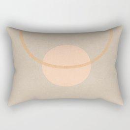 Space in between - Simple minimal earth tones Rectangular Pillow