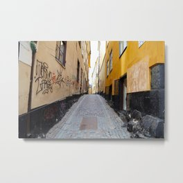 Stockholm. A Narrow Street in Gamla Stan Metal Print