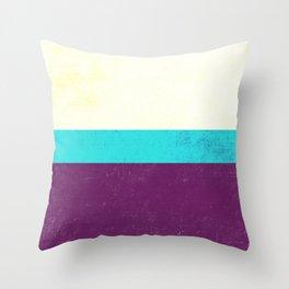 Textured Purple, Blue, White Throw Pillow