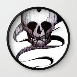 Skull Love Wall Clock