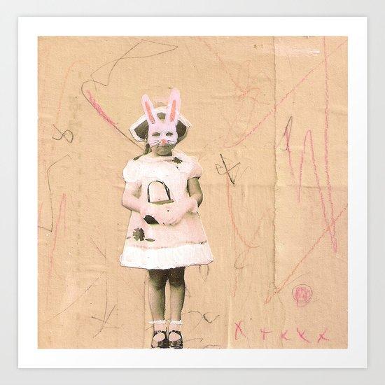 Imaginary Friends- Bunny Art Print