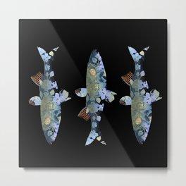 Flowery fish Metal Print