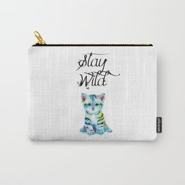 Stay Wild - kitten illustration Carry-All Pouch