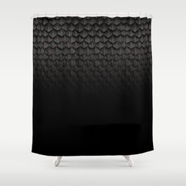 Dragon Scales (Black) Shower Curtain