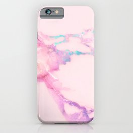 Pink Iridescent Vein Marble iPhone Case